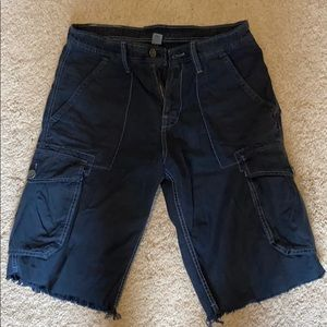 True Religion men's cargo shorts